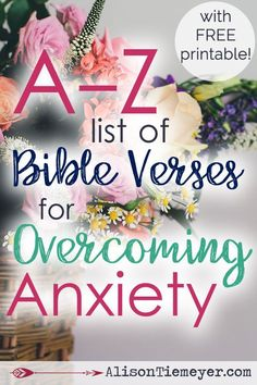 Are you searching for relief from anxiety? Meditating on this A-Z list of Bible verses is the best way of coping with anxious thoughts, fears, and worries. Scripture is full of powerful truth. Claim it for yourself today & find peaceful relief! Scriptures For Anxiety, Bible Scriptures, Bible Quotes, Faith Bible, Bible Verses Of Encouragement, Bible Verses For Depression, Bible Verses For Women, Best Bible Verses, Thoughts