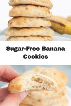 These sugar-free Banana Cookies are mind-blowing. You only need 4 basic ingredients to make them, and they are also vegan and oil-free. They are the lightest and fluffiest cookies ever!