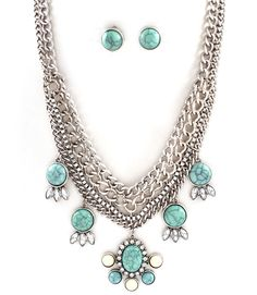 turquoise + silver ~