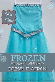 Tutorial-Princess-Elsa-dress-up-apron and Anna too :)