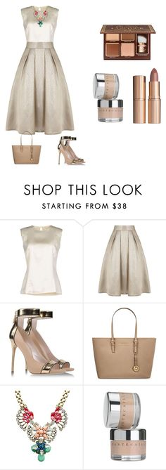 """Pretty & Elegant"" by reshu-rathi ❤ liked on Polyvore featuring MARY JANE, Coast, Casadei, MICHAEL Michael Kors, Amandine, Chantecaille and Charlotte Tilbury"