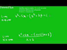 verificación de una asíntota oblicua para una función
