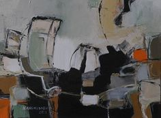 """Daily Painters Abstract Gallery: Abstract Painting,Expressionism Art """"Wind of Departure"""" by Abstract Artist Nijole Rasmussen"""
