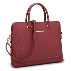 ea7d15b04d5e5 Shop Dasein Front Stitching Women s Shoulder Briefcase - On Sale - Free  Shipping Today - Overstock
