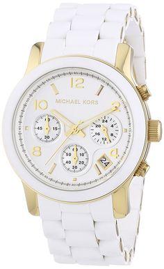 Michael Kors Runway MK5145 - Reloj cronógrafo de cuarzo para mujer, correa de…