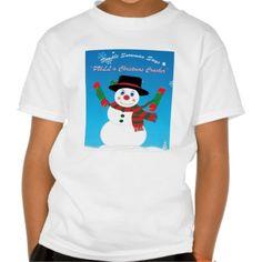 Simple Snowman Pull a Xmas Cracker Kids T-Shirt