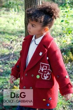 Preppy! Stylish Back to School Coat by Dolce & Gabbana Kids. Burgundy Red Wool DG Varsity Logo Coat. Complete the look with a red, blue and yellow Carretto print tiered skirt. Shop the look @ Childrensalon (affiliate). #dolcegabbana #backtoschool #girlscoat #childrensalon #dashinfashion Girls Designer Clothes, Red Wool Coat, Girls Special Occasion Dresses, Dolce And Gabbana Kids, Stylish Girl, Baby Girls, Boy Outfits, Cool Girl, Preppy