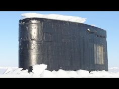 Massive US Submarines Breaking Through Ocean of Ice in the Arctic - YouTube