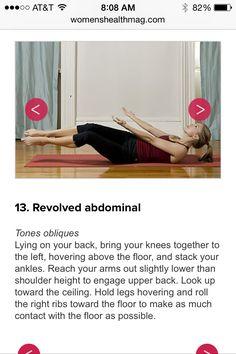 Revolved abdominal pose