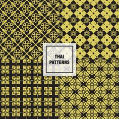 Patterns ลายไทย สวยๆ แจกฟรี!! - Fastwork Blog Thai Pattern, Pattern Art, Pattern Design, Geometric Background, Background Patterns, Thai Art, Thai Thai, Notebook Cover Design, Thai Design