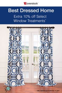 With a bold pattern and striking color treatment, this pretty curtain panel is just one example of the many window treatments available from Exclusive Fabrics that will add cosmopolitan flair to any home.