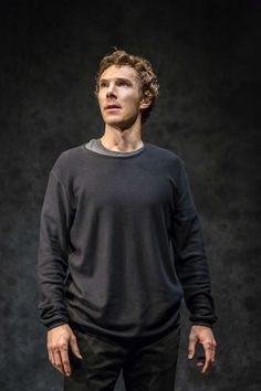 WHAT'S ON STAGE (August 7, 2015) ~ Official production photo of Benedict Cumberbatch in HAMLET at the Barbican in London. [Click for photo gallery]