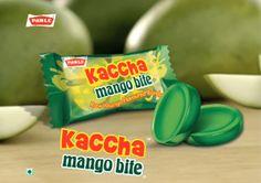 Kaccha mango bite, Parle, India.