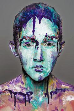 Marianna Vysotskaya MUAH: Darya Kholodnykh Model: Misha Artistic #makeup