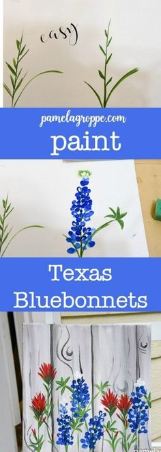 Paint Texas Bluebonnets, an easy painting tutorial for these fabulous flowers of Spring. Easy enough for beginners. Paint Texas Bluebonnets, an easy painting tutorial for these fabulous flowers of Spring. Easy enough for beginners. Spring Painting, Diy Painting, Painting & Drawing, Painting Tutorials, Tole Painting, Fence Painting, Watercolor Tutorials, Matte Painting, Drawing Tips