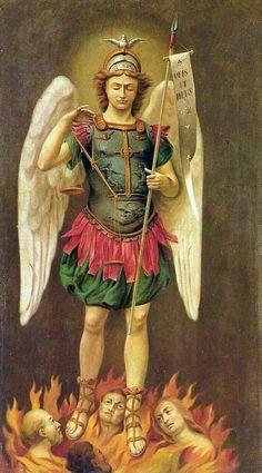 San Miguel Arcángel rescatando almas del purgatorio
