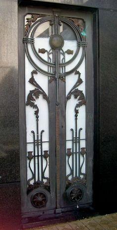Art Deco Door in Buenos Aires, Argentina