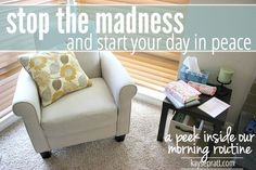 Need a better, more Peace-filled morning routine? Tired of starting each day feeling overwhelmed and behind? Stop The Madness (Start Your Day In Peace) - KaysePratt.com
