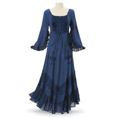 $79.95 Indigo Gypsy Dress - Women's Clothing & Symbolic Jewelry – Sexy, Fantasy, Romantic Fashions