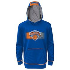 911742aa7 NBA New York Knicks Youth Boys 820 Pullover Hood Blue Medium 1012     Want