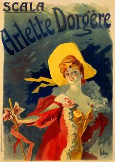 Arlette Dorgere by Jules Cheret 1896 France