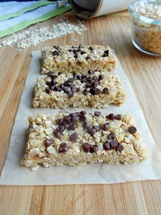 Culinary Couture: No-Bake Chewy Granola Bars These would be safe for my fellow lactose intolerant migraine sufferers if we sub in our favorite lactose free butter alternative (I like the soy free Earth Balance) and use Carob chips (or maybe some fruit?) in place of the chocolate chips :-)