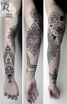 Mirja Fenris, tatuagens inspiradas em geometria sagrada e mandalas
