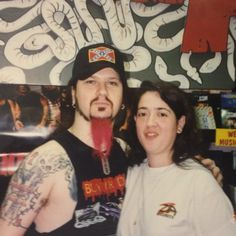 #ThrowbackThursday: Dimebag Darrell of Pantera with Zia all-star Berna at Zia Thunderbird in 1997.