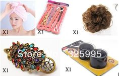 5 pcs hair accessories for women+1 wig elastic hair band+1 Classic  hairpin+2 Flaxen Hair tool+1 Super Absorbent  towel dry hair on AliExpress.com. $6.90