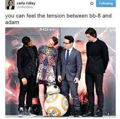 It's pretty awkward between them