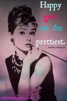 Stay happy. Stay beautiful.  Stylish Lashes - For feminine feline lashes like Audrey Hepburn, eyelash extensions can work wanders to extend what mother nature blessed you with.
