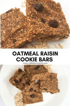 Oatmeal Raisin Cookie Bars - Nibble to Nourish