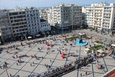King George's square in Patras Greece