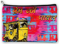 Prem Ki Payal Utility Pouch  Size: 11 x 7 Inches Material: Canvas