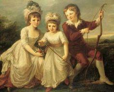 Georgiana, Henrietta and George Spencer.