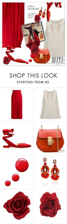 """""""Untitled #1297"""" by flippintickledinc ❤ liked on Polyvore featuring Sonia Rykiel, Woolrich, Chloé, Topshop and Ranjana Khan"""