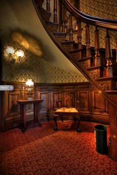 I would like this pic featuring me in my gown on the staircase and my hubbie to be sitting in the chair under it Victorian Interiors, Victorian Decor, Vintage Interiors, Victorian Homes, Vintage Homes, House Interiors, Victorian Era, Architecture Details, Interior Architecture