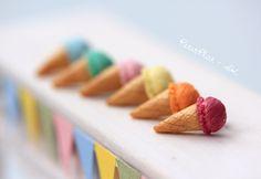 Eiskrem Ohrringe - Pastelltöne Blau, Rosa, Türkis