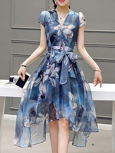 Buy Formal Dresses Elegant Dresses For Women at JustFashionNow. Online Shopping Justfashionnow Party Dresses Formal Dresses Going Out A-Line V Neck Elegant Floral-Print Short Sleeve Dresses, The Best Going Out Elegant Dresses. Discover Fashion Trends at j