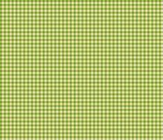 Leaf-Green_and_Cream_Quarter-inch Checks fabric by fireflower on Spoonflower - custom fabric