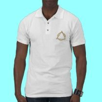 """Golden """"3-D"""" Holy Trinity Symbol t-shirts by Artists4God.  Prices for my products start at about $1.00!"""