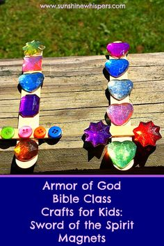 Armor of God Bible Class Crafts for Kids: Sword of the Spirit Magnets - Sunshine Whispers  http://www.sunshinewhispers.com/2015/08/armor-of-god-bible-class-crafts-for-kids-sword-of-the-spirit-magnets/