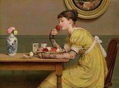 Leslie, George Dunlop (b,1835)- Smell of Roses (Veja Tambem) -2b