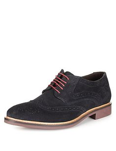 Suede Lace Up Brogue Shoes with Stain Resistance | M&S