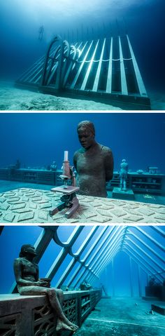 Jason Decaires Taylor, Metal Casting, Stone Carving, Installation Art, Three Dimensional, All Art, Underwater, Environment, Sculpture