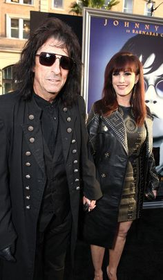 "Sheryl auditioned for a job as a dancer on Alice Cooper's 1975 'Welcome to My Nightmare' tour. Barely a year later they wed. 35+ years later the two are still happily married. In the early 80s Sheryl left Alice briefly at the height of his alcoholism but they ultimately reconciled. Alice has said even at the depths of his addiction he never cheated on Sheryl. ""I don't think there is such a thing as a perfect marriage, but ours is probably one of the best I've ever seen.""- Sheryl"