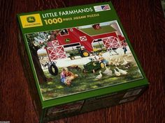 JOHN DEERE PUZZLE TRACTOR JIGSAW LITTLE FARMHANDS ZOLAN 2008 1000 PCS TRACTOR #GreatAmericanPuzzleFactory