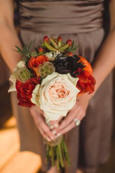 Autumn Wedding Bridesmaid Bouquet // Rosemary & Finch Floral Design, Nashville, TN