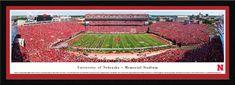 Nebraska Cornhuskers Football Panorama - Memorial Stadium Panoramic Picture - Select Frame $149.95
