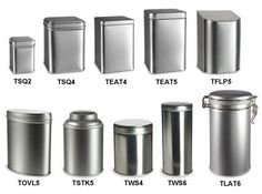 Check out the tea and storage tins from Specialty Bottle! Wholesale prices and no minimums.